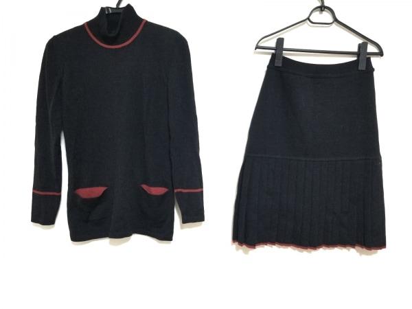 レナランゲ スカートセットアップ サイズI40 M レディース美品  黒×レッド