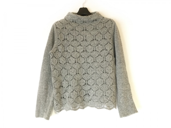 VALENTINO(バレンチノ) 長袖セーター サイズ42 L レディース グレー