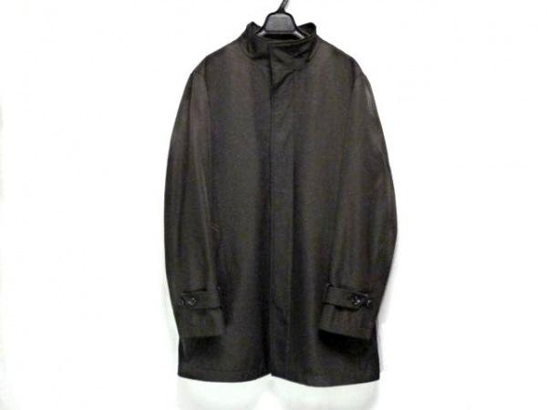 monsieur NICOLE(ムッシュニコル) コート サイズ50 メンズ ダークブラウン 春・秋物