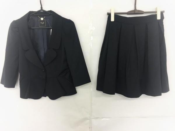 Swingle(スウィングル) スカートスーツ サイズ1 S レディース美品  ダークグレー