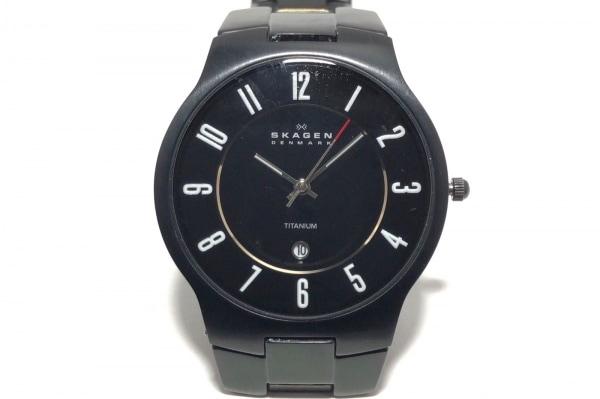 SKAGEN(スカーゲン) 腕時計 TITANIUM 572XLTMXB メンズ 黒