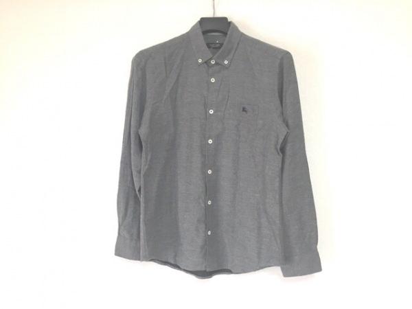 バーバリーブラックレーベル 長袖シャツ サイズ3 L メンズ グレー