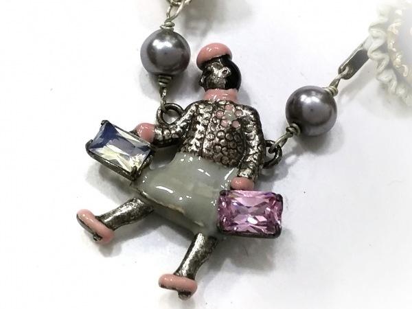 レネレイド ネックレス 金属素材×プラスチック×ラインストーン フラワー
