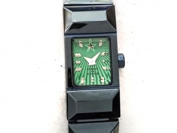 ZUCCA(ズッカ) 腕時計 1N00-0PK0 レディース CABANEdeZUCCA ライトグリーン