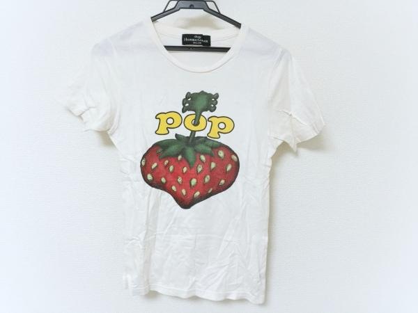 ヒステリックグラマー 半袖Tシャツ レディース アイボリー×レッド×グリーン