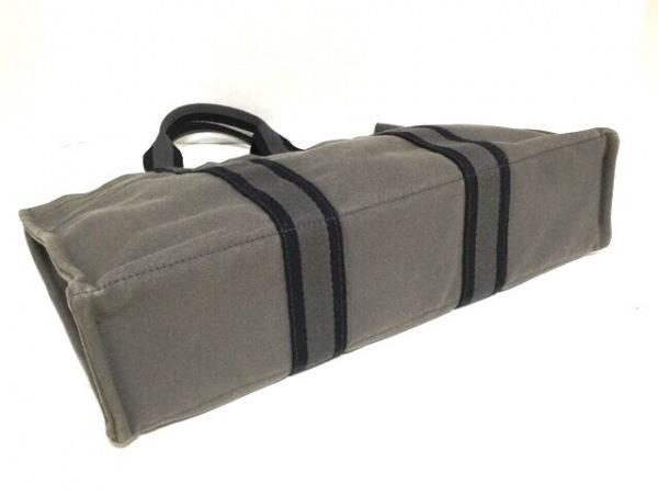 HERMES(エルメス) トートバッグ フールトゥトートMM ダークグレー×黒 キャンバス