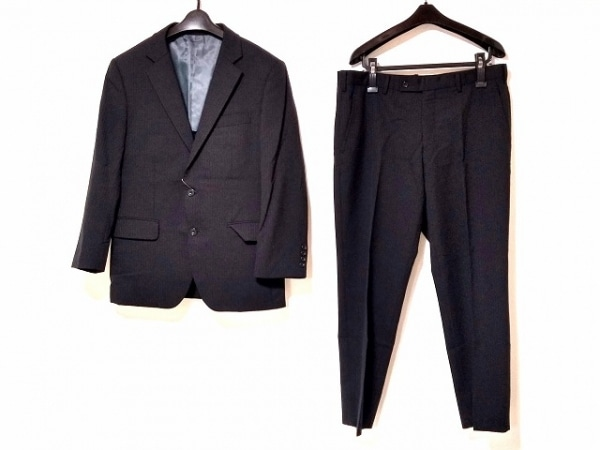 TAKEOKIKUCHI(タケオキクチ) シングルスーツ メンズ美品  黒 ストライプ
