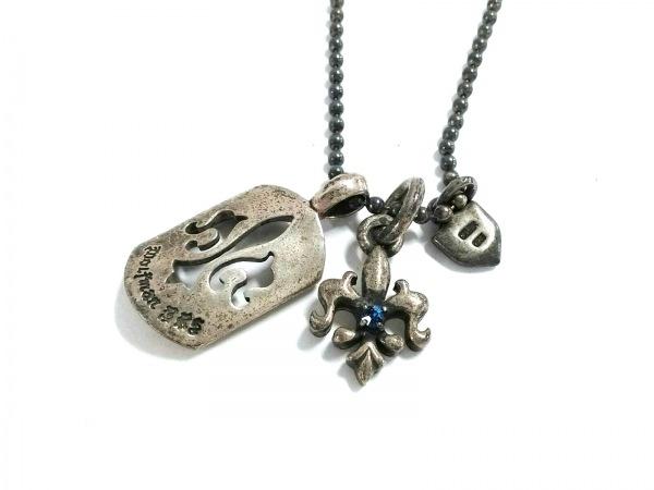 WOLFMAN B.R.S(ウルフマン) ネックレス美品  シルバー ラインストーン