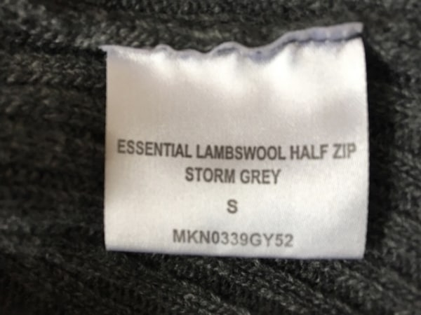 バーブァー 長袖セーター サイズS メンズ美品  グレー ジップアップ/ハイネック