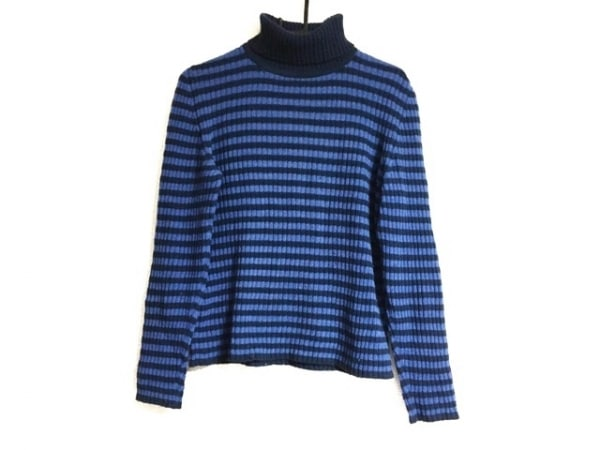 PaulSmith(ポールスミス) 長袖セーター サイズM レディース ネイビー×ブルー
