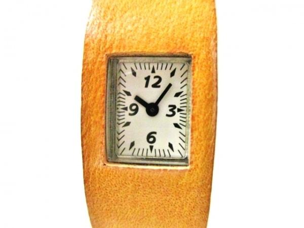 ZUCCA(ズッカ) 腕時計美品  - レディース CABANE de ZUCCA/革ベルト 白