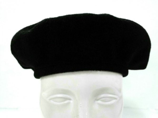 KIJIMATAKAYUKI(キジマタカユキ) ハンチング美品  黒 ベレー帽 ウール×ナイロン