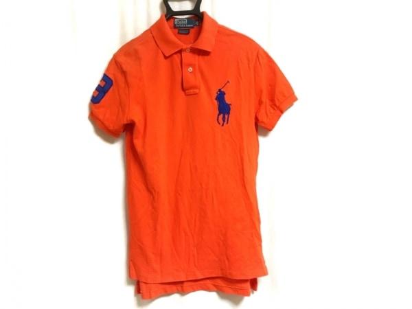 ポロラルフローレン 半袖ポロシャツ サイズS メンズ オレンジ×ブルー