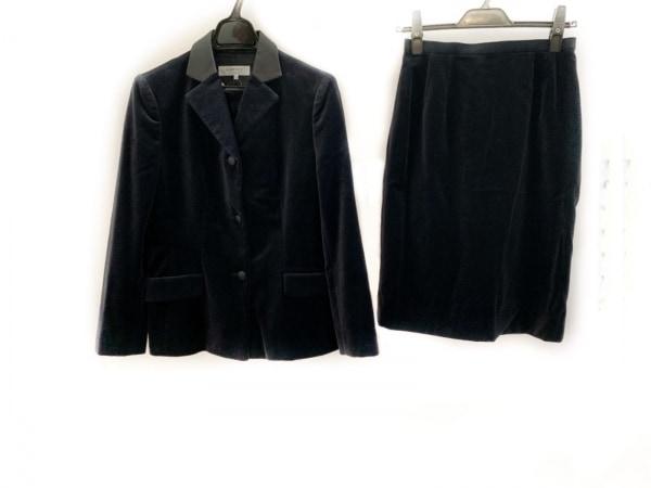 LANVIN(ランバン) スカートスーツ サイズ38 M レディース美品  ネイビー×黒