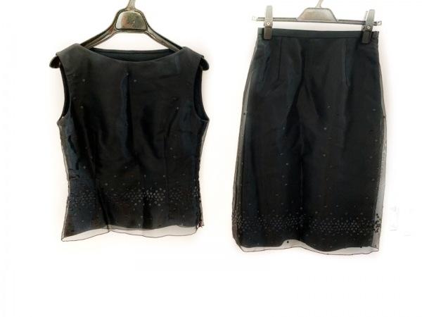 LANVIN(ランバン) スカートセットアップ サイズ38 M レディース美品  黒