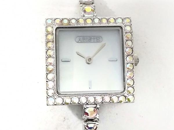ABISTE(アビステ) 腕時計美品  - レディース シェル文字盤/ラインストーン アイボリー