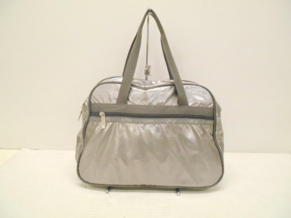 LESPORTSAC(レスポートサック) ハンドバッグ美品  グレー ラメ 化学繊維