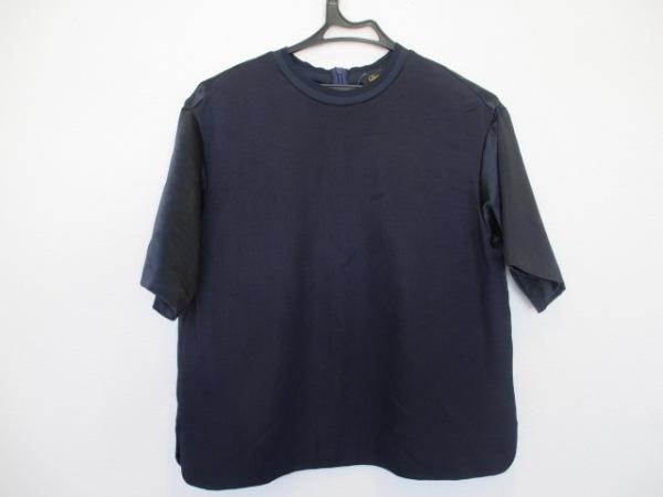 Drawer(ドゥロワー) 半袖カットソー サイズ36 S レディース美品  ダークネイビー