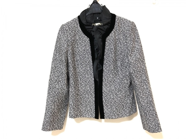 la festa chic(ラフェスタシック) ジャケット サイズ11 M レディース 黒×白 肩パッド