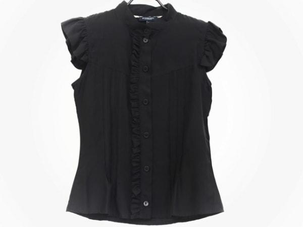 バーバリーロンドン ノースリーブシャツブラウス サイズ6 M レディース美品  黒