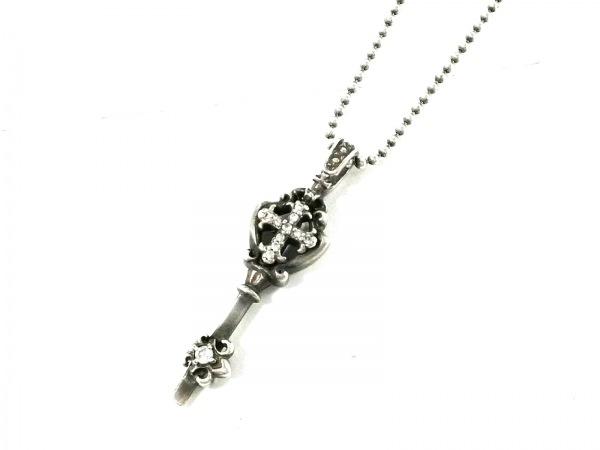 Arpege(アルページュ) ネックレス美品  シルバー×ジルコニア クロス