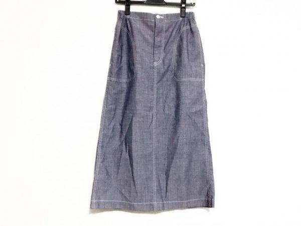 トリココムデギャルソン ロングスカート サイズM レディース美品  ネイビー