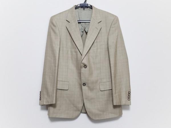 ケント&カーウェン ジャケット サイズ48 XL メンズ美品  ライトグリーン×ベージュ