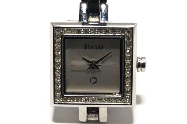 MORGAN(モルガン) 腕時計 MG019 レディース ラインストーンベゼル シルバー