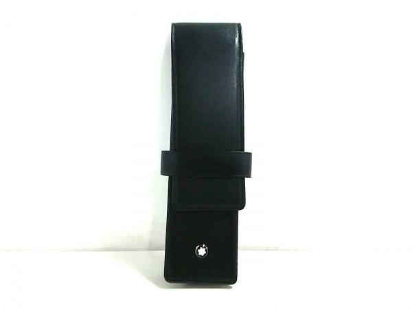 MONTBLANC(モンブラン) ペンケース美品  黒 レザー