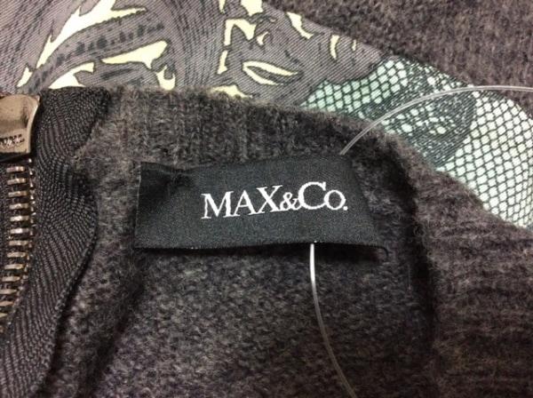 MAX&CO.(マックス&コー) ワンピース サイズM レディース 異素材切替/ニット