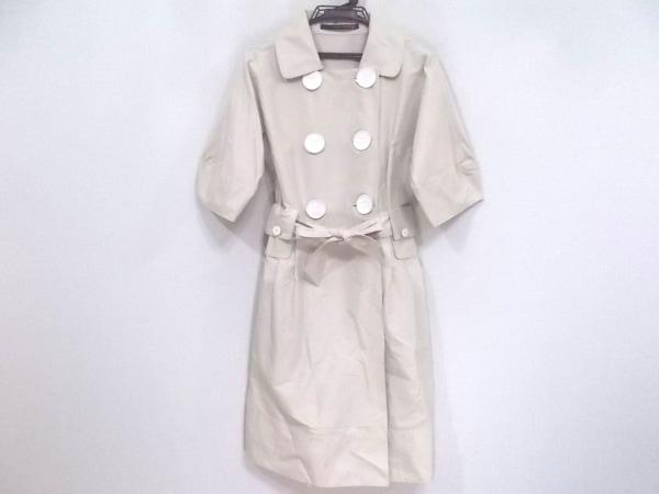 マウリツィオペコラーロ コート サイズ42 L レディース美品  ベージュ×白 春・秋物