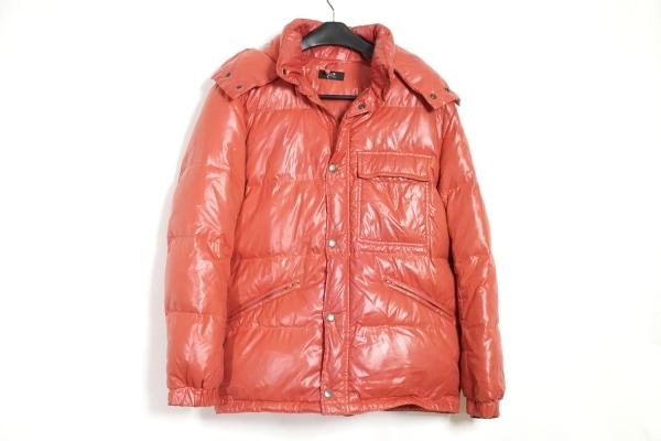 23区 HOMME(ニジュウサンク オム) ダウンジャケット サイズ48 XL メンズ レッド 冬物
