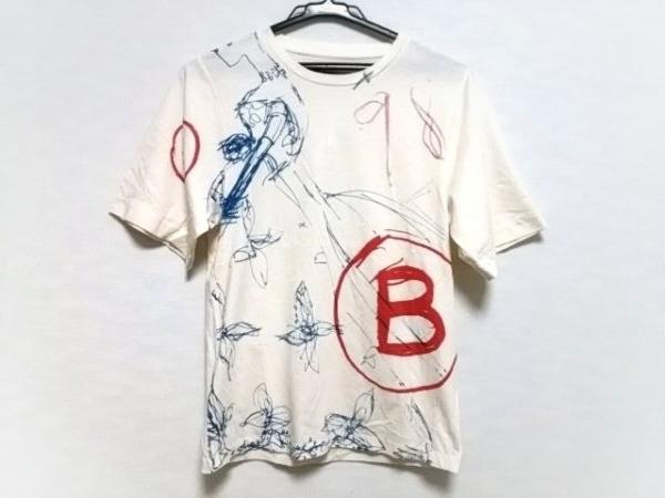 バレンシアガ 半袖Tシャツ サイズXS メンズ美品  316838 ベージュ×ブルー×レッド