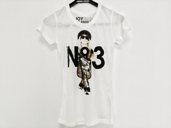 JOYRICH(ジョイリッチ) 半袖Tシャツ サイズS レディース F0918TE 白×黒×マルチ