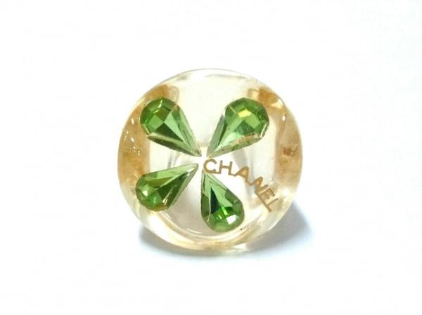 CHANEL(シャネル) リング美品  プラスチック イエロー×グリーン クローバー