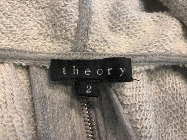 theory(セオリー) パーカー サイズ2 S レディース ライトグレー ドルマンスリーブ