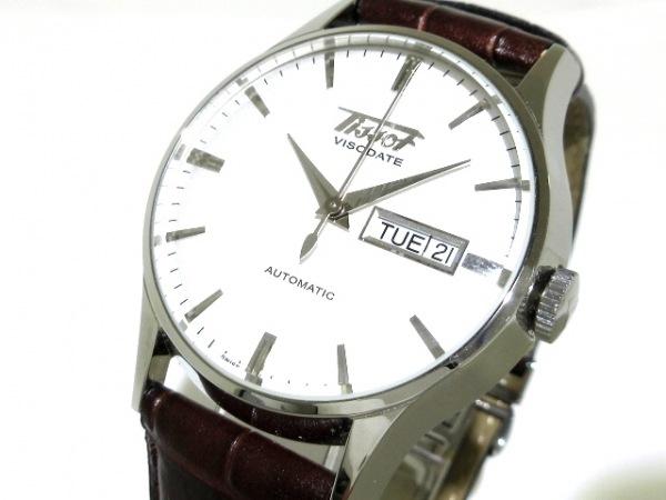 TISSOT(ティソ) 腕時計美品  T019430B メンズ 革ベルト 白
