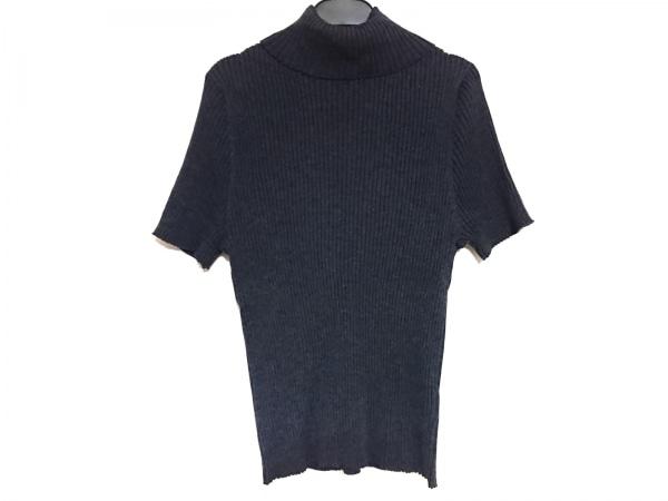 23区(ニジュウサンク) 半袖セーター サイズ46 XL レディース ダークグレー×グレー