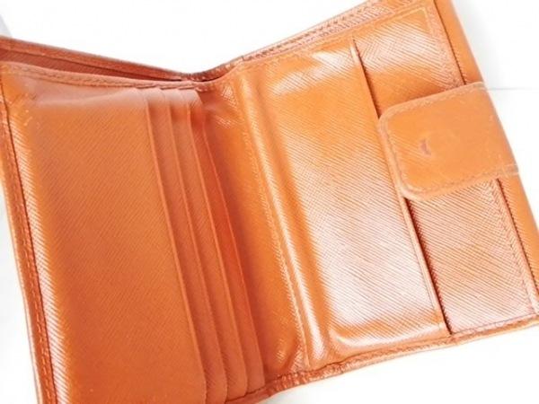 33068e078a63 PRADA(プラダ) Wホック財布 - オレンジ レザーの中古 | PRADA ブランド ...