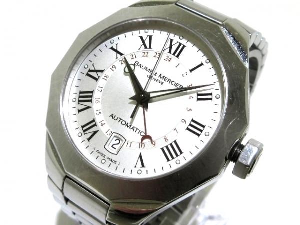 ボーム&メルシエ 腕時計 リヴィエラクラシックGMT MOA08670 メンズ SS/要OH シルバー