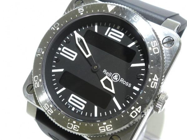 ベルアンドロス 腕時計 タイプアビエーション BR03-88 メンズ SS/ラバー 黒
