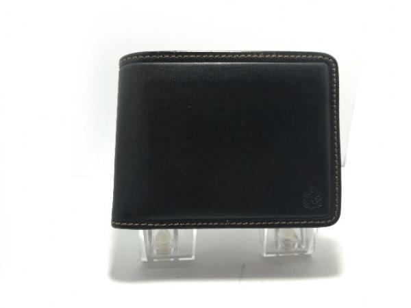 TAKEOKIKUCHI(タケオキクチ) 2つ折り財布 黒×オレンジ レザー