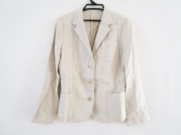 マドモアゼルノンノン ジャケット サイズ38 M レディース ベージュ 麻/肩パッド