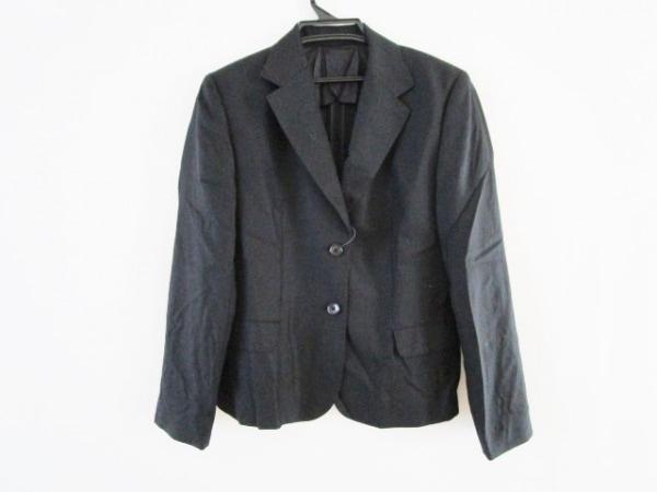 マドモアゼルノンノン ジャケット サイズ40 M レディース 黒 シルク混