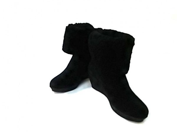 エフバイエーフェリーラ ショートブーツ 35 レディース美品  黒 ウェッジソール