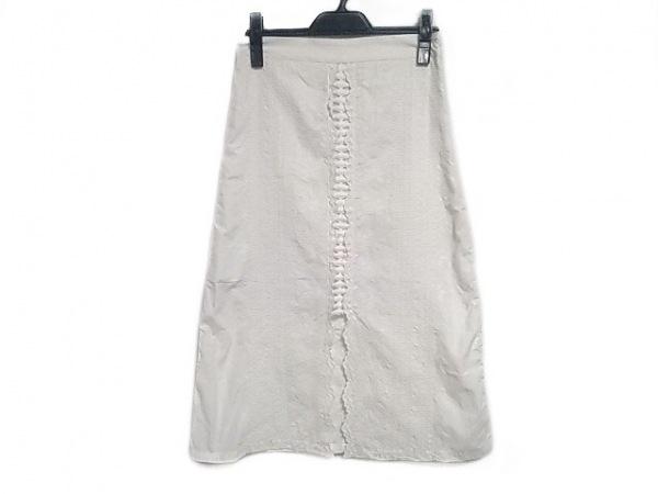 sea NEW YORK(シーニューヨーク) ロングスカート サイズ2 M レディース 白 刺繍