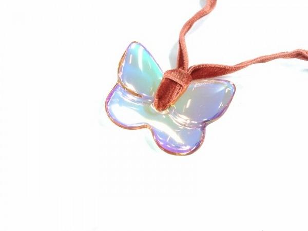 Baccarat(バカラ) ネックレス新品同様  クリスタルガラス×ベロア×金属素材