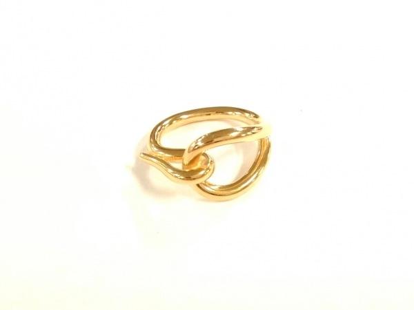 HERMES(エルメス) スカーフリング美品  ジャンボ 金属素材 ゴールド