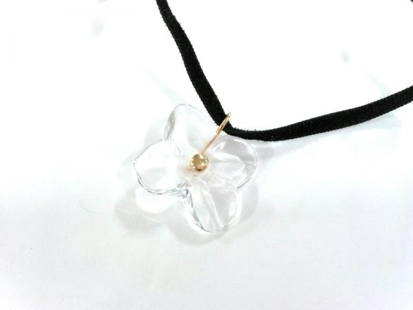 Baccarat(バカラ) ネックレス美品  クリスタルガラス×ベロア×K18YG クリア×黒