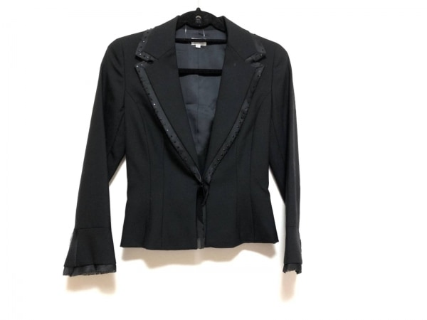 FOXEY(フォクシー) ジャケット サイズ38 M レディース美品  黒 ラインストーン